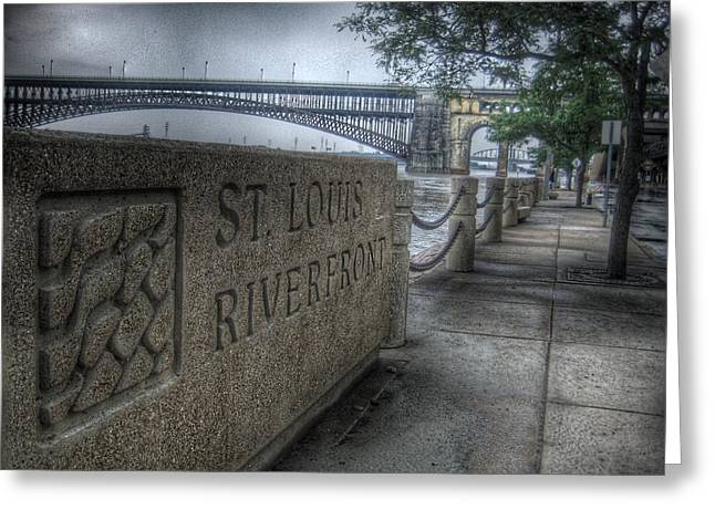 Missouri Photographer Greeting Cards - St. Louis Riverfront Greeting Card by Jane Linders