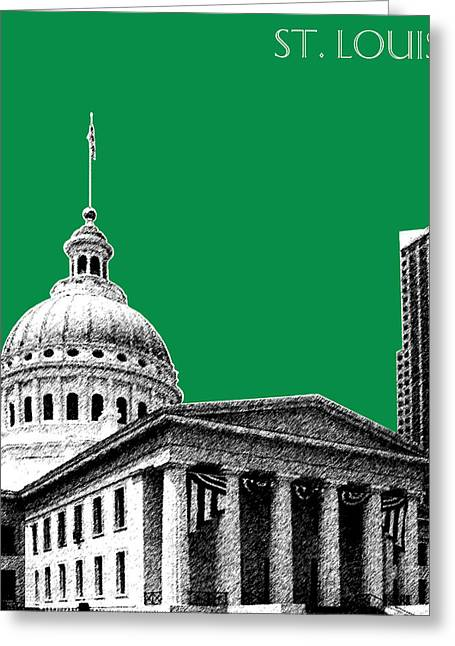 St Louis Missouri Greeting Cards - St Louis Skyline Old Courthouse - Forest Greeting Card by DB Artist