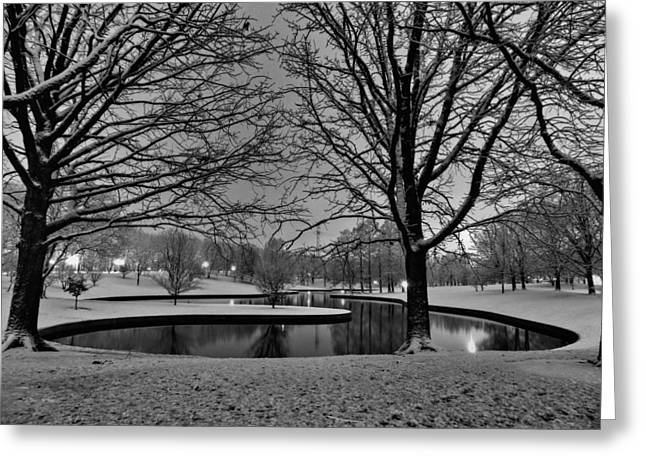 Jefferson National Expansion Memorial Greeting Cards - St. Louis - Winter at the Arch 001 Greeting Card by Lance Vaughn