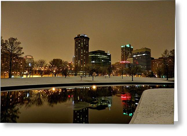 St. Louis - Winter At The Arch 007 Greeting Card by Lance Vaughn