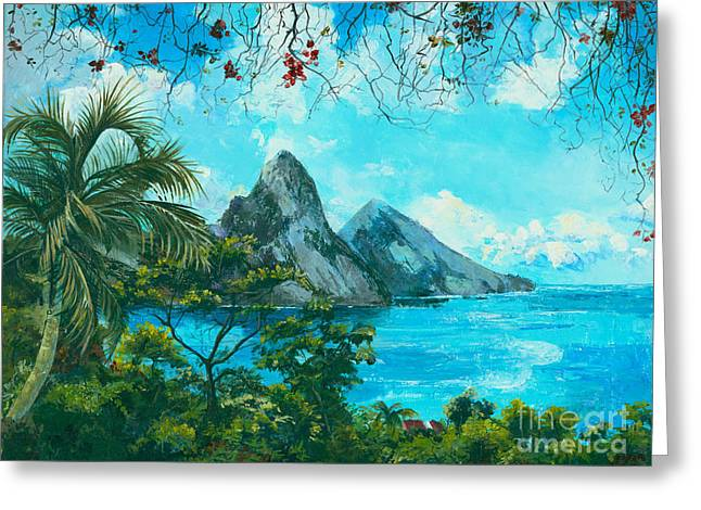 St. Lucia - W. Indies Greeting Card by Elisabeta Hermann