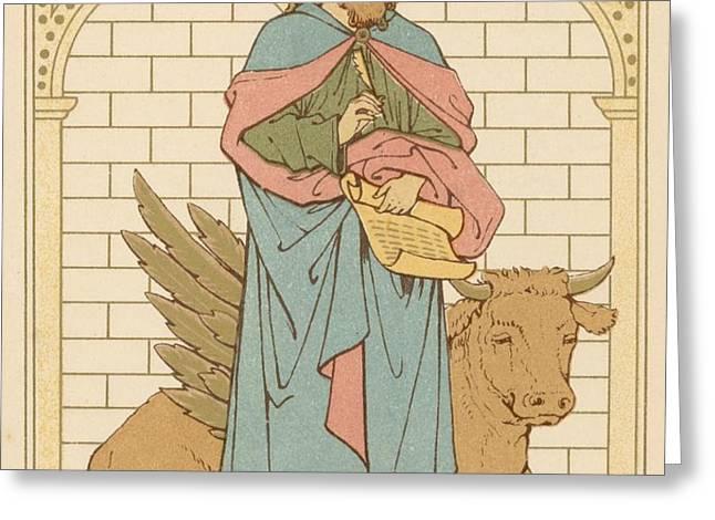 St Luke the Evangelist Greeting Card by English School
