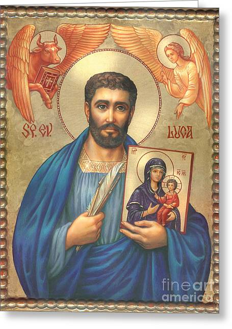 St. Luke Greeting Card by Zorina Baldescu