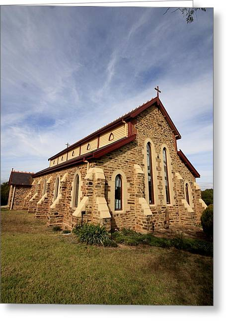 1874 Greeting Cards - St Lukes Anglican Church Gulgong Greeting Card by Ian  Ramsay