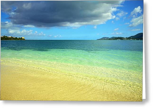 Utopia Greeting Cards - St. Maarten Tropical Paradise Greeting Card by Luke Moore
