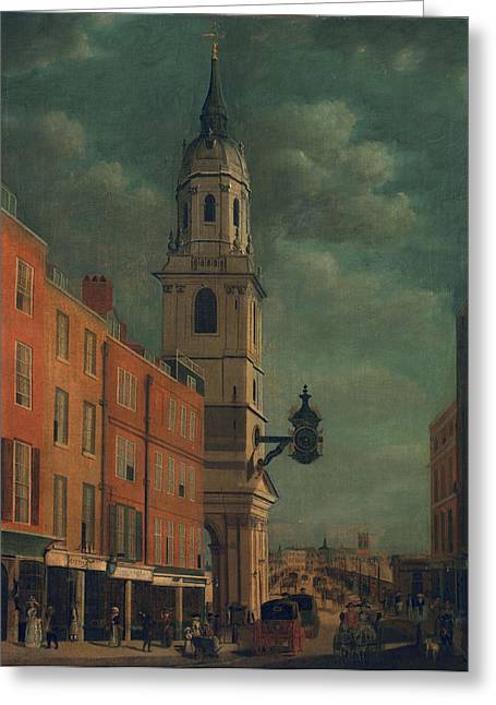 Ecclesiastical Architecture Greeting Cards - St. Magnus The Martyr Greeting Card by James Malton