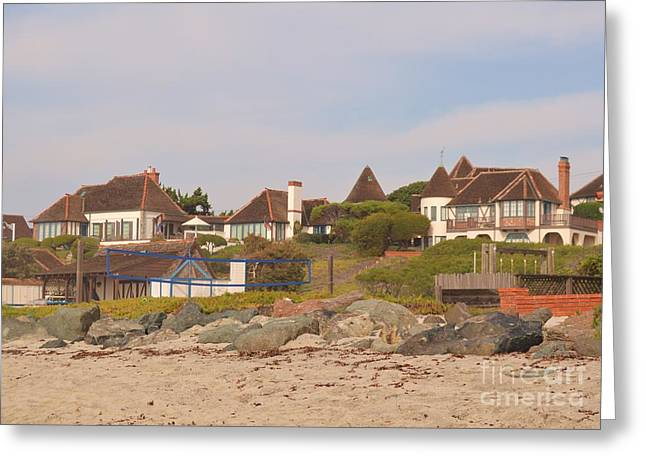 Laurie D Lundquist Greeting Cards - St. Malo Beach Greeting Card by Laurie D Lundquist