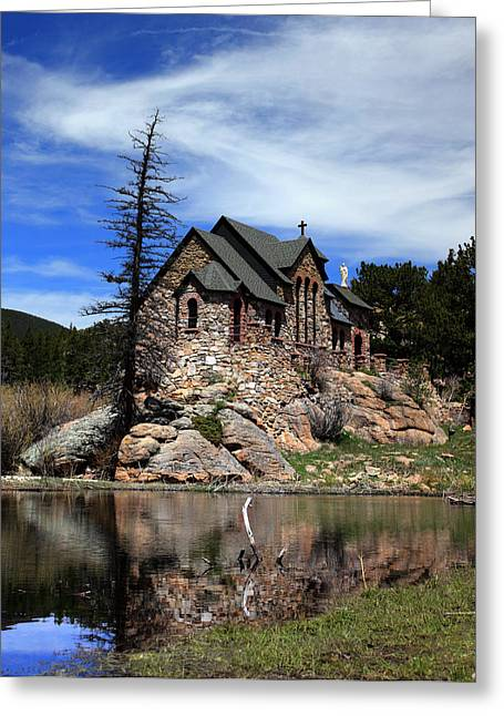 Chapel On The Rock Greeting Cards - St. Malo Chapel Greeting Card by Dana Bechler