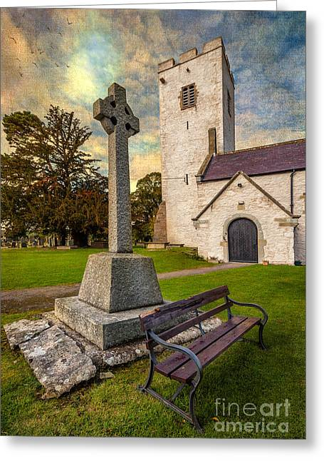 St. Marcellas Celtic Cross Greeting Card by Adrian Evans