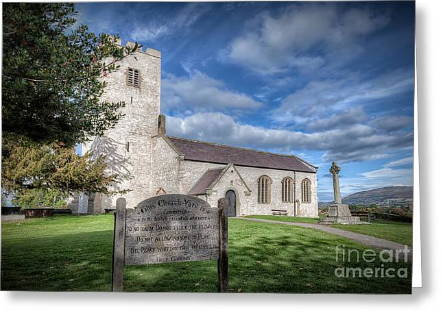 Historic Architecture Digital Art Greeting Cards - St Marcellas Church Greeting Card by Adrian Evans