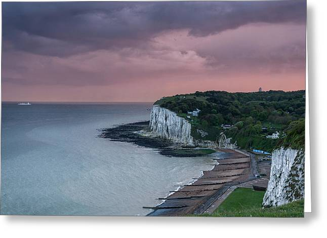 White Photographs Greeting Cards - St margarets Bay Dover Greeting Card by Ian Hufton