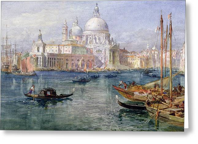 Seaport Greeting Cards - St Maria della Salute Venice Greeting Card by Edward Angelo Goodall