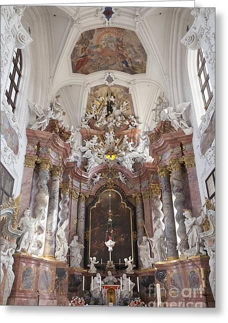 Kloster Greeting Cards - St Marien Catholic Church Kloster Neuzelle Brandenburg German Greeting Card by Julie Woodhouse