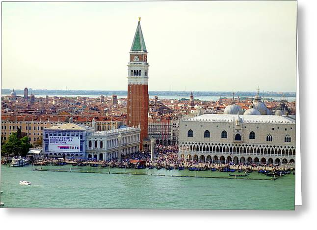 Beauty Mark Greeting Cards - St. Mark Square Greeting Card by Valentino Visentini