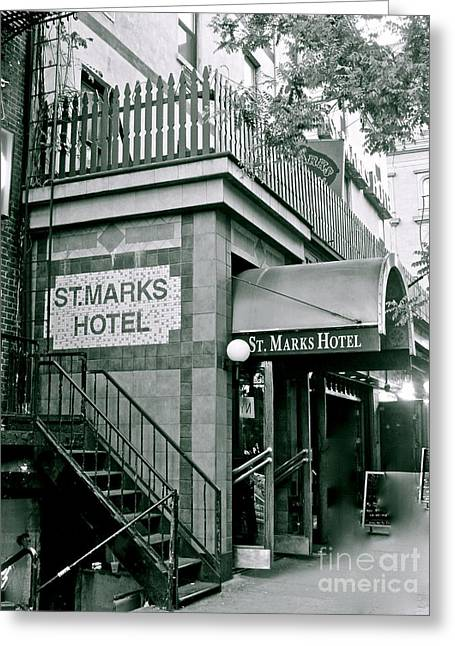 Wooden Stairs Greeting Cards - St. Marks Hotel Greeting Card by Maritza Melendez
