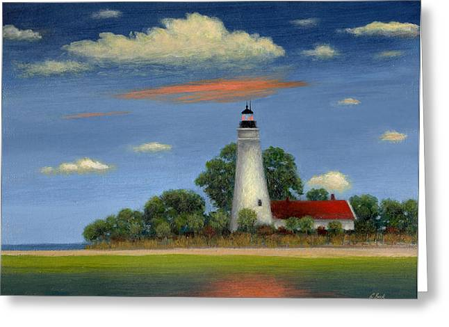 St. Mark Greeting Cards - St. Marks Light Florida Greeting Card by Gordon Beck