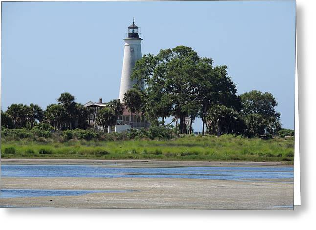 Levi Greeting Cards - St Marks Lighthouse Greeting Card by Marilyn Holkham