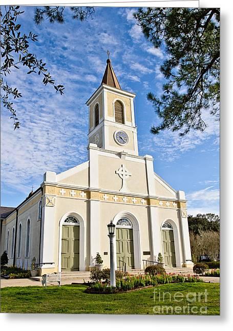 Martinville Greeting Cards - St. Martin de Tours Church Greeting Card by Scott Pellegrin