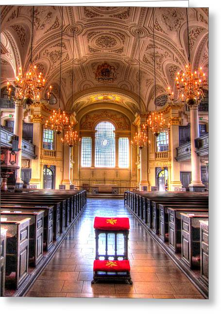 Saint Hope Greeting Cards - St Martin in the Fields Greeting Card by Andreas Thust