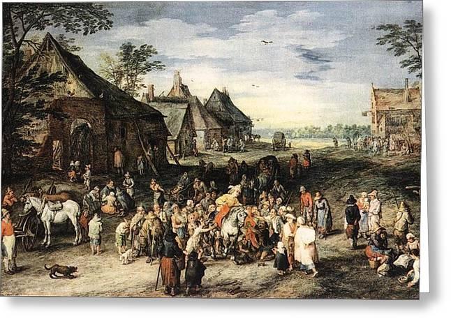 Saint Martin Dividing His Cloak London Greeting Card by Jan Brueghel the Elder
