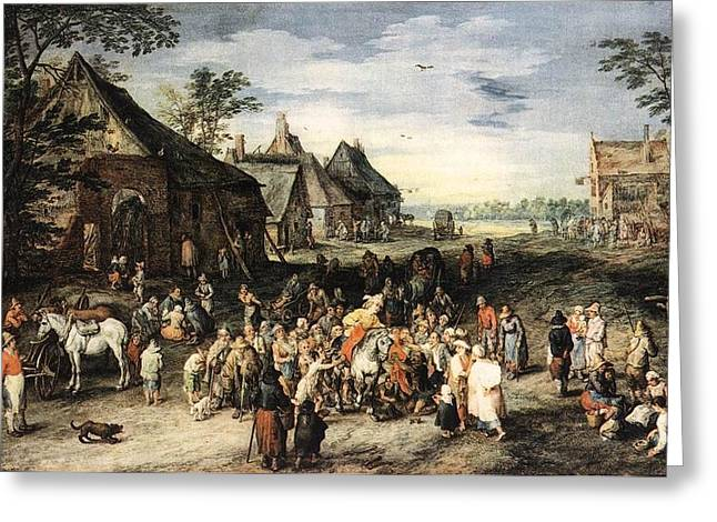 St Martin Greeting Card by Jan Brueghel