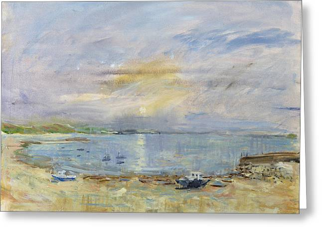 Sailing Boat Greeting Cards - St. Martins Bay, Scilly Isles, 1996 Oil On Canvas Greeting Card by Patricia Espir