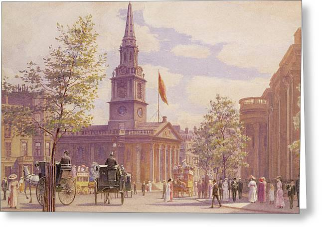 Advancing Greeting Cards - St. Martins in the Fields London Greeting Card by WH Simpson