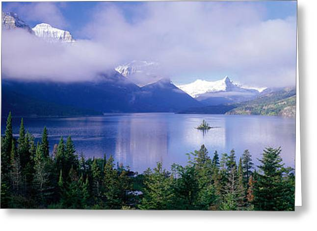 St Marys Greeting Cards - St Mary Lake, Glacier National Park Greeting Card by Panoramic Images