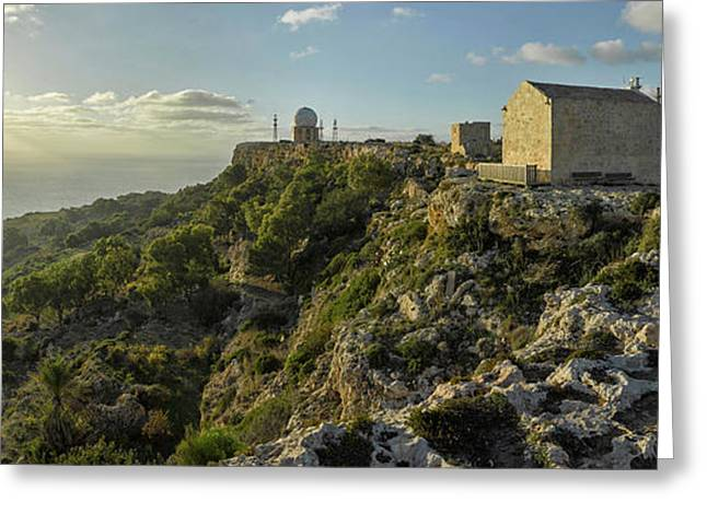 St. Mary Magdalene Chapel At Sunset Greeting Card by Panoramic Images