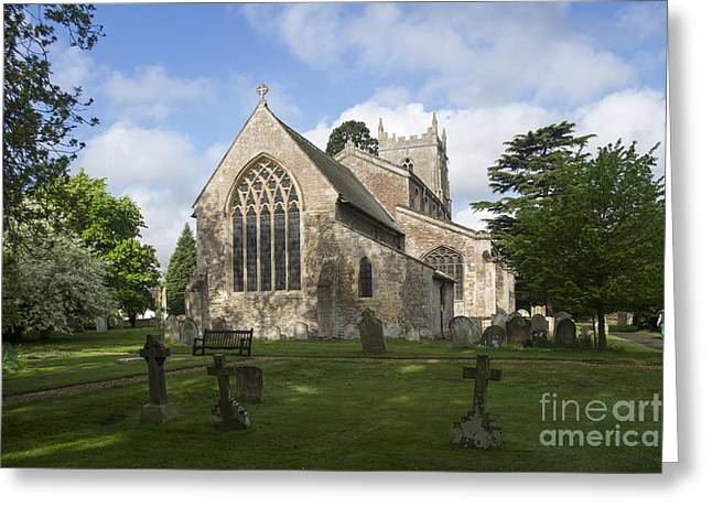 St Mary Magdalene Photographs Greeting Cards - St Mary Magdalene Church Brampton Cambridgeshire England Greeting Card by Keith Douglas