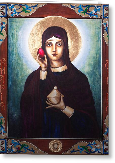 St Mary Magdalene Paintings Greeting Cards - St. Mary Magdalene  Greeting Card by Fr Barney Deane