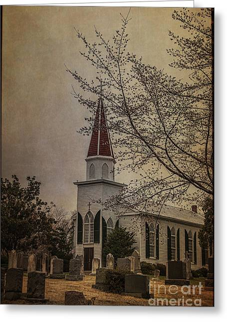 St. Mary Greeting Cards - St. Mary of Sorrows Spring Greeting Card by Terry Rowe