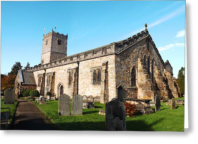 Virgin Mary Greeting Cards - St. Mary The Virgin Church Kirkby Lonsdale Greeting Card by Rumyana Whitcher