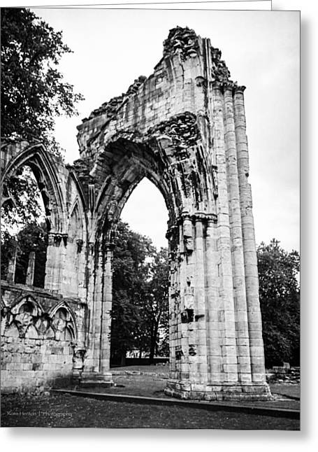 Minster Abbey Greeting Cards - St. Marys Abbey Greeting Card by Ross Henton