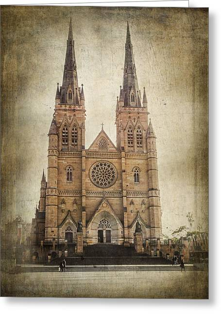 Australia Photographs Greeting Cards - St Marys Cathedral Greeting Card by Constance Fein Harding