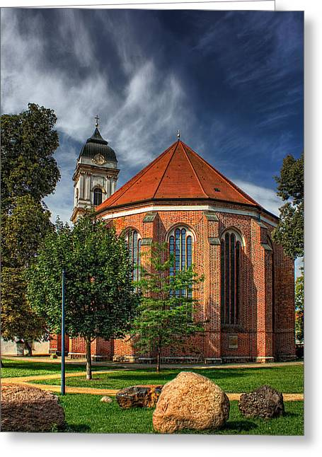 Cathedral Rock Greeting Cards - St Marys Cathedral in Furstenwalde Germany Greeting Card by Mountain Dreams
