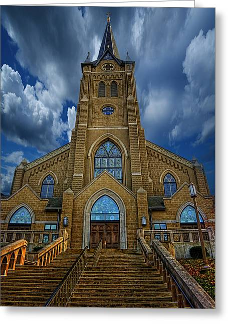 St. Mary's Cathedral  Greeting Card by Regina  Williams