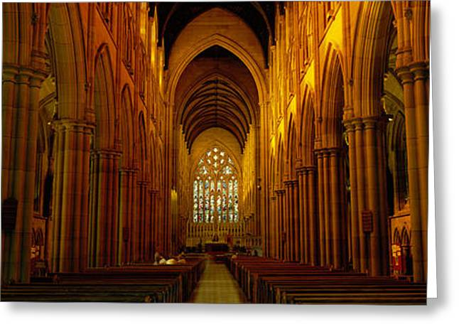 Stained Glass Windows Greeting Cards - St. Marys Cathedral, Sydney, New South Greeting Card by Panoramic Images