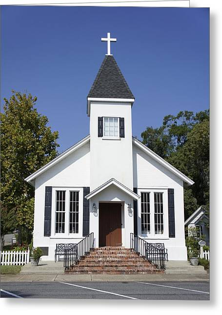 Wooden Building Greeting Cards - St. Marys Chapel Greeting Card by Laurie Perry