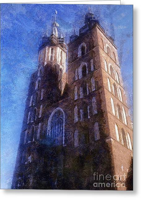 Basillica Greeting Cards - St. Marys Church Cracow Greeting Card by Mo T