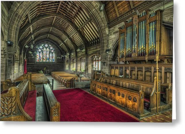 St Marys Church Organ Greeting Card by Ian Mitchell