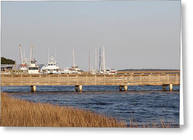 Gilman Greeting Cards - St. Marys Harbor Greeting Card by Cathy Lindsey