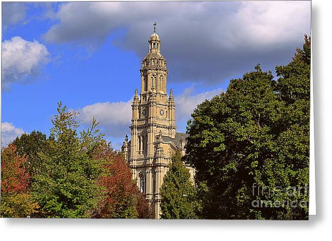 Indiana Autumn Greeting Cards - St Marys Immaculate Conception Church Greeting Card by Amy Lucid