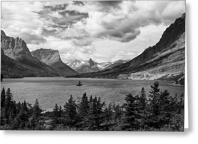 Glacier National Park Greeting Cards - St. Marys Lake Greeting Card by Andrew Soundarajan