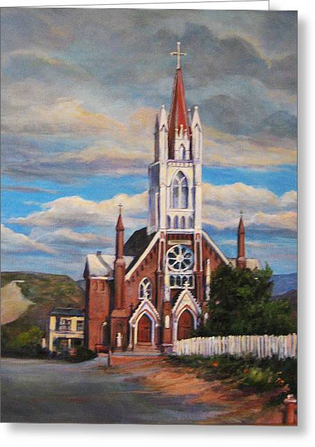 Donna Tucker Greeting Cards - St. Marys of the Mountains Greeting Card by Donna Tucker