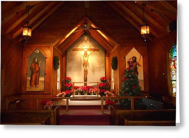 St. Mary's The Mystery of Faith Frescoe Greeting Card by Diannah Lynch