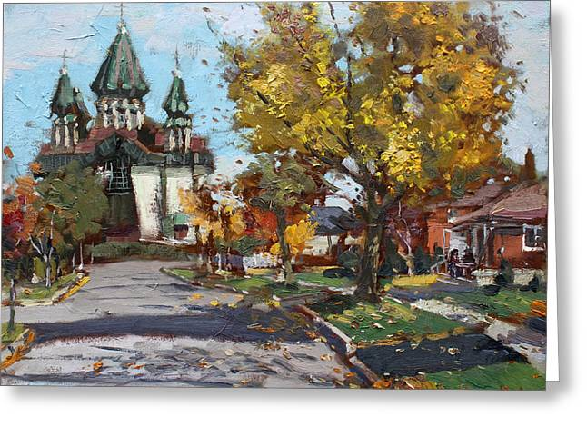 Church Street Greeting Cards - St. Marys Ukrainian Catholic Church Greeting Card by Ylli Haruni