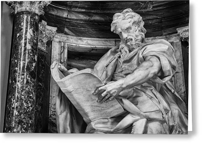 Lateran Greeting Cards - St. Matthew Greeting Card by Pablo Lopez
