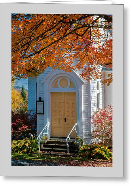 New England Village Greeting Cards - St Matthews Church of Sugar Hill Greeting Card by Thomas Schoeller