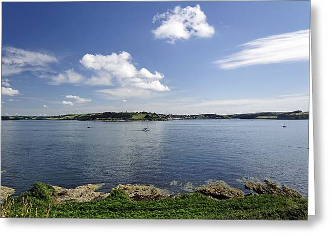 United Kingdom Greeting Cards - St Mawes from Pendennis Point Greeting Card by Rod Johnson